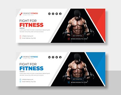Gym Fitness Social Media Facebook Cover Timeline Cover