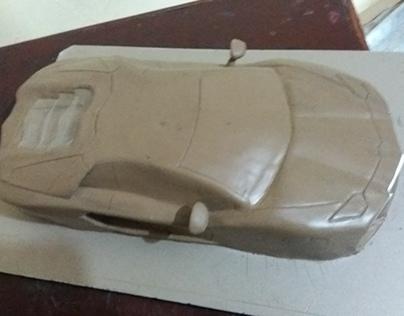 clay model of lamborghini aventador