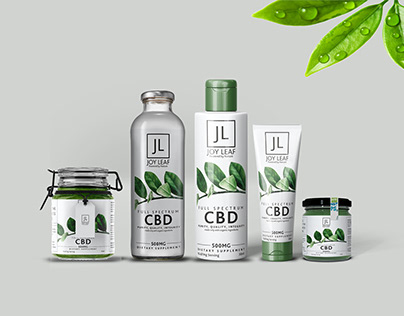 CBD Branding Bottle Presentation Mockup