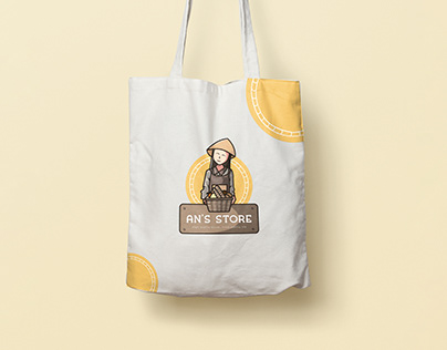 An's Store | Grocery Store Illustration & Branding