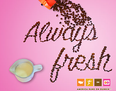 Object Lettering Dunkin Donuts Coffee ad