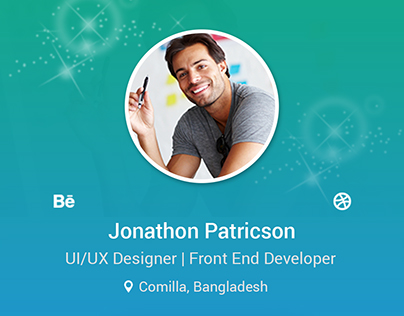 Portfolio App User Profile UI/UX Design