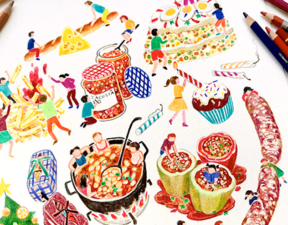 Food Is The Story : Editorial Illustration