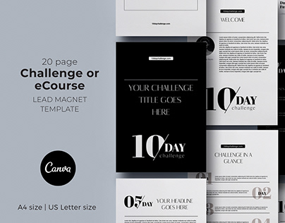 10-day Challenge / eCourse Canva lead magnet Template