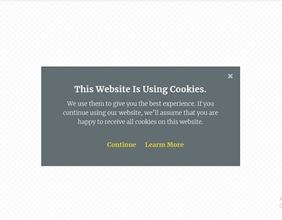 Midnight Cookie Policy Popup by Elementor Pro -