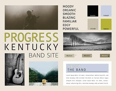 Band Website Mood Board