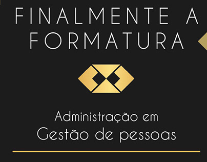 Convite virtual para formatura