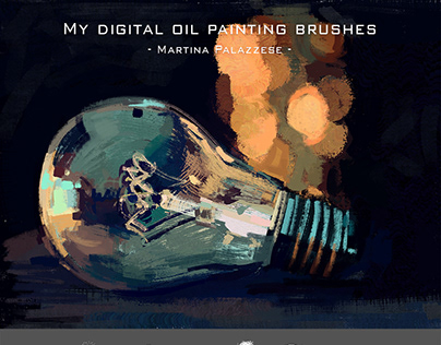My digital oil painting brushes (FREE) - for Photoshop