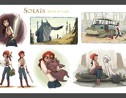 Storyboards - Solais (personal work)
