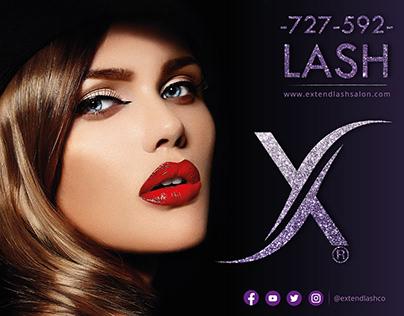 X Lash Saloon - Storefront Design
