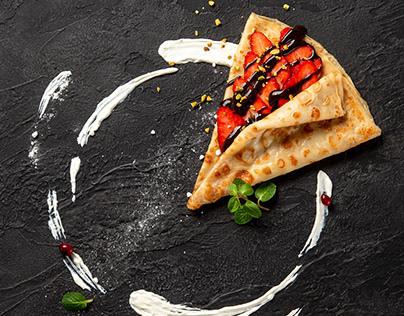 Food photography pancake