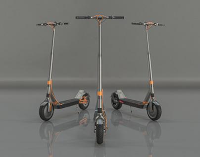 Danieli elecrtic scooter - Product visualisation