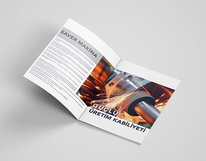 SAVER MAKİNA-MAGAZINE INTERNAL PAGE DESIGN