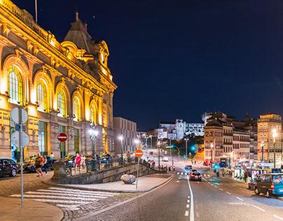 Historic train station in Porto
