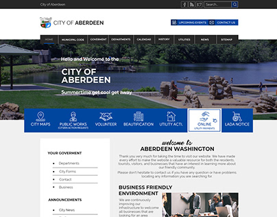 Website Redesign City of Aberdeen