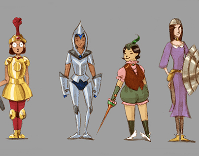 Accidental Hero Character Designs