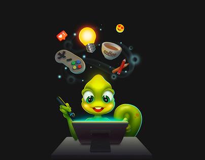 Mascot for the company Chameleon 42