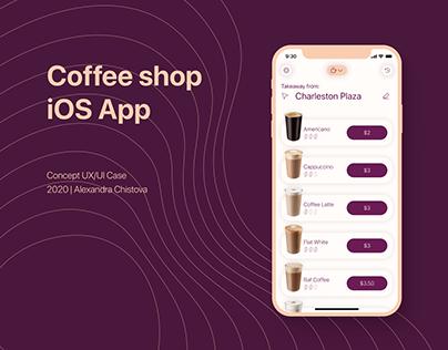 Coffee Shop Concept iOS App - UX/UI Case