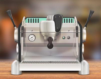 Espresso Machine Illustration