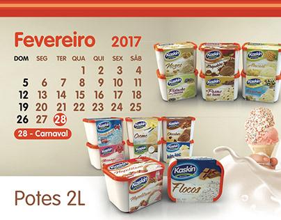 Kaskin Ice Cream 2017 Calendar
