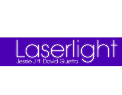 Kinetic Type - Jessie J's Laserlight