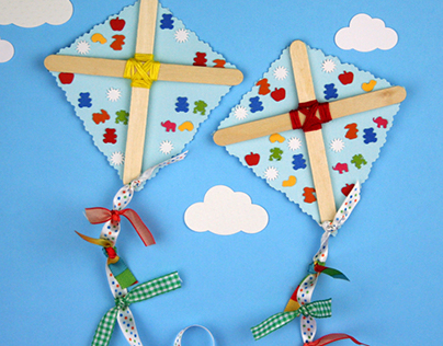 Easy Kite Craft Project for Young Children