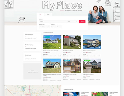 MyPlace - real estate classifieds Joomla template
