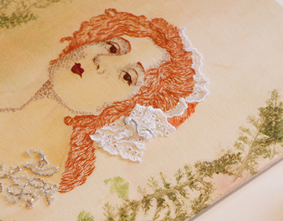 Edwardian Girl / Hand Embroidery