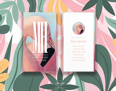 Flamingo Business Card /Card Template /Design Card