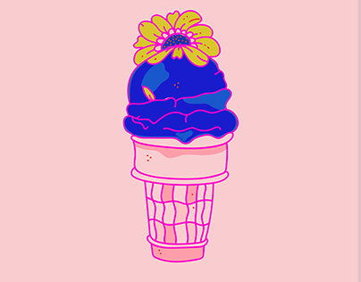 2 Scoops of Spring with a Flower on Top