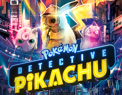 Official Pokemon Detective Pikachu MoviePoster- Vector