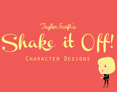 Taylor Swift's Shake it Off! Character Designs