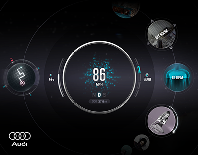 The AUDI Planet, Concept Car Dashboard GUI