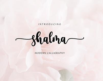 shalma - modern calligraphy font