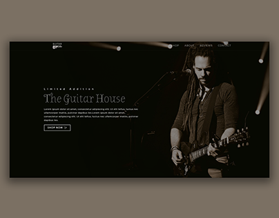 Landing page For A Guitar Shop
