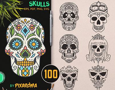100 Decorative Skulls