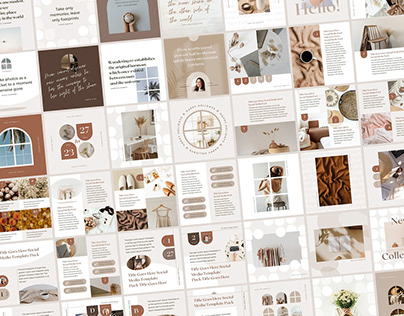 Instagram Template Editable Post Pack Canva - Shadow