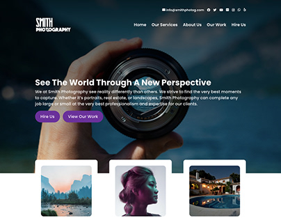Photography Landing Page Website