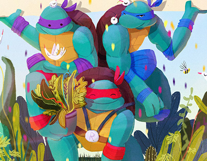 Earth day with TMNT