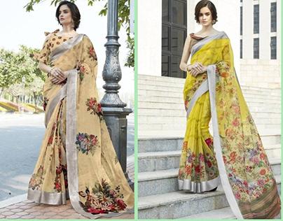 Organza sarees collection online shopping