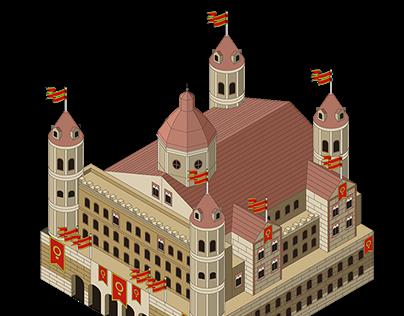 Isometric castles / Castillos isometricos