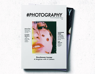 #Photography Magazine Cover Redesign