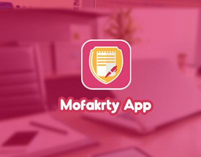 Mofakrty App.