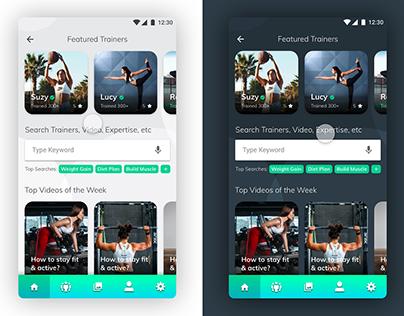 Hire Fitness Trainer Mobile App Concept Design