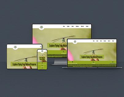 Flying Frog Nature Preserve Website Design