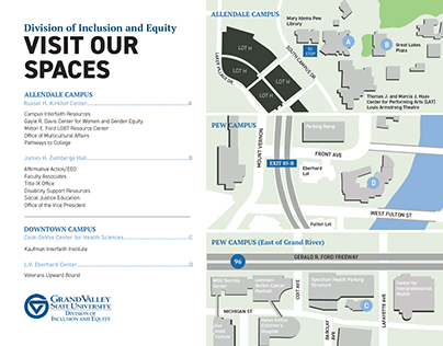 Grand Valley Pew Campus Map.Grand Valley State University Veterans Upward Bound On Behance