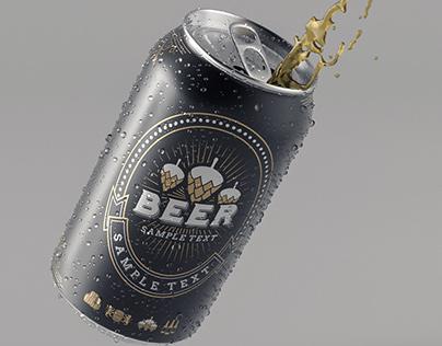 Beer Can 3D Test Render