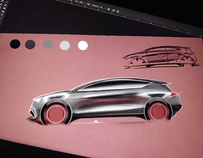Quick hatchback sketch & render