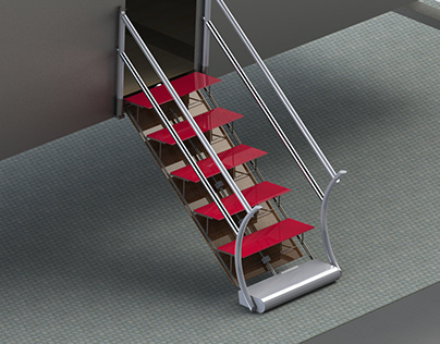 Retractable housing stairs for Casa Futuro Lab