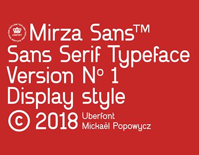 Mirza Sans • Typeface